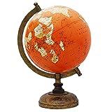 """Decorativo globo giratorio Geografía Mundial naranja Océano Tierra decoración de la tabla 13"""""""