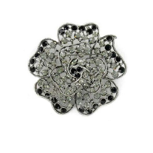 Fashion Trendy Brooch Black #014748