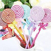 Lollipop Kugelschreiber Kurios Kinder Spielzeug Süße Schule Briefpapier Gife (Packung mit 5: zufällige Farbe)