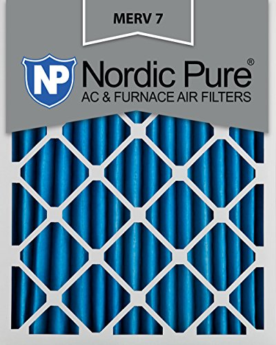 Nordic Pure 12x24x2M7-3 MERV 7 Pleated AC Furnace Air Filter, 12x24x2, Box of 3 (12 X 24 Washable Ac Filter compare prices)