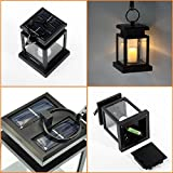 Falove LED Solar Mission Lantern, Vintage Solar Powered Waterproof Hanging Umbrella Lantern Candle Lights Led with Clamp Beach Umbrella Tree Pavilion Garden Yard Lawn Etc. Lighting & Decoration