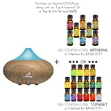 Art Naturals Essential Oil Diffuser - Electric Cool Mist Aromatherapy Humidifier Aroma Diffuser - Spa Fragrance For The Whole House- Auto Shut-off & 7 Color LED Lights Changing (2017 New Model)