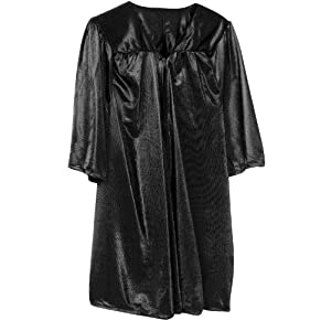 Kids Graduation Gown - up to 8 years (Black)