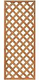 天然木製 格子ラティス 60cm×150cm×35mm 1枚 ライトブラウン WLL-6015T