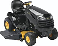 Poulan Pro 960420170 PB20VA46 Briggs 20 HP V-Twin Ready Start Pedal Control Fast Auto Drive Cutting Deck Riding Mower, 46-Inch by Husqvarna Wheeled