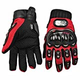 Carbon Fiber Red Motorcycle Accessories Motorbike Powersports Racing Gloves Street Bike Gender  Mens Unisex Size XL For 2009 Buell Ulysses XB12X