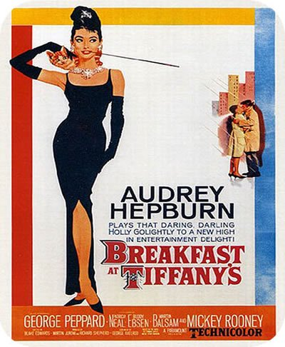 Classic Breakfast at Tiffany's Audrey Hepburn Vintage Movie MOUSE PAD