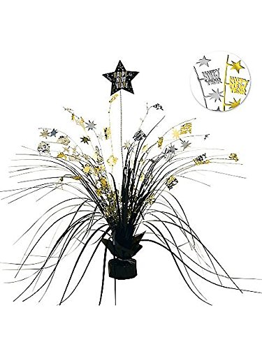 Black, Gold and Silver 15in Spray Centerpiece