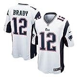 (ナイキ)Nike NFL ペイトリオッツ #12 トム・ブレイディ Game Team Color ユニフォーム (ホワイト) - S [その他] [その他]