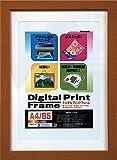 ナカバヤシ デジタルプリントフレーム A4 B5 ブラウン フ-DPW-A4-BR