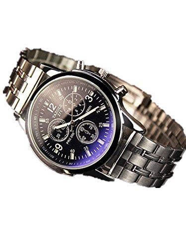 godere-in-pelle-e-metallo-uomo-blue-ray-con-vetro-al-quarzo-analogico-orologi