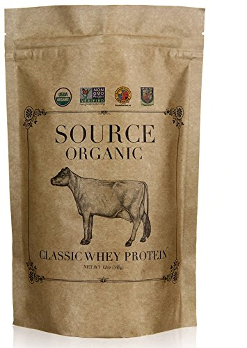 Source Organic Whey Protein - 100% Grass-Fed and Grass-Finished - Classic - Unflavored - Lecithin-Free