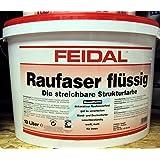 Feidal Raufaser flüssig v. Fachhandel, weiss matt , die streichbare Strukturfarbe 10 L