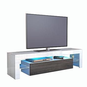 2 meuble tv bas armoire basse basse lima en blanc mat mat mali weng cuisine maison m154. Black Bedroom Furniture Sets. Home Design Ideas
