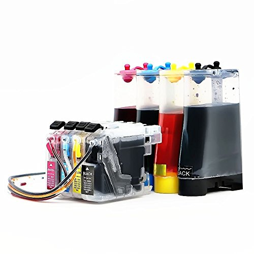 INKUTEN CISS SYSTEM for brother LC101 LC103 LC 103 Refill Ink Cartridges for Brother MFC-J4310DW MFC-J4410DW MFC-J4510DW MFC-J4610DW MFC-J4710 MFC-J470DW MFC-J475DW MFC-J870DW MFC-J875DW Printers (Brother Ciss compare prices)