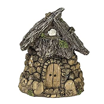 Miniature Enchanted Cottage Gnome Hobbit Fairy (Stone House)