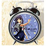XINGQU Clannad Anime Colorful Design Twin Bell Alarm Clock, Black