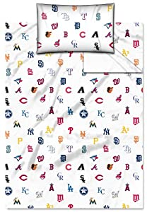 MLB All Team Twin Sheet Set