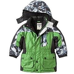 Buy OshKosh B'gosh Colorblock Parka Jacket - Boys 4 5 6 Green (4) by OshKosh B'Gosh