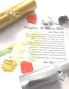 A4 Wedding Gift Box : Law Wedding Poem Scroll Gift (A4). Complete with Candle & Scroll Box ...