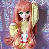 1/3 9-10 inch BJD Doll Wig High Temperature Long Loose Wavy Orange Pink Synthetic Fiber Hair Wig BJD Doll Wigs for 1/3 1/4 1/6 BJD SD Doll (T2335&T1344&T1641) (Color: T2335&T1344&T1641)