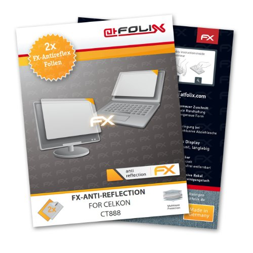 atFoliX FX-Antireflex screen-protector for Celkon CT888 (2 pack) – Anti-reflective screen protection!