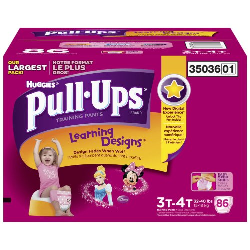 Huggies Pull-ups Training Pants for Girls, Size