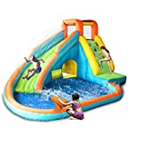 Bounceland Playful Water Slide with Water Gun