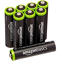 8-Pack AmazonBasics AAA Rechargeable Batteries Pre-charged