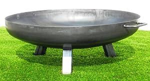 Brasero en Acier 790 mm / avec 3 pieds et 2 poignées + Bois de cheminée gratis
