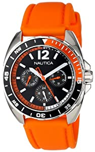 Nautica Unisex N09908G Sport Ring Multifunction Orange Box Set Watch by Nautica
