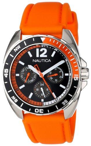 Nautica Unisex N09908G Sport Ring Multifunction Orange Box Set Watch