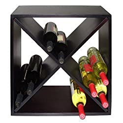 Vinotemp VT-DIAMONDBIN Wood Wine Rack Cube, 24-Bottle