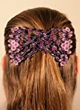 Ez Magic Clip double comb, Hair accessories 25 different hair styles (Purple flowers)
