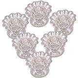 Shreeng Silver Plated Set Of 6 Sunflower Diyas 6 Pcs.