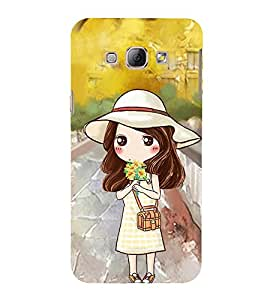 Vizagbeats Animated Girl Back Case Cover for Samsung Galaxy A8::Samsung A8 2015