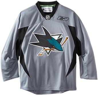 NHL San Jose Sharks Practice Jersey, Gray by Reebok
