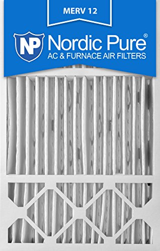 Nordic Pure 16x25x5L1M12-2 Lennox X6670 Replacement MERV 12 Pleated Furnace Air Filter, Box of 2 (Air Filter X6672 compare prices)