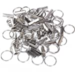50 Sets 1 Inch Key Fob Chain Hardware...