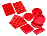 Sorbus Silicone Value Baking Set, Bundle of 9 Different Baking Molds, Easy To Clean, Oven / Microwave / Dishwasher / Freezer safe, Heat Resistant Up To 450F