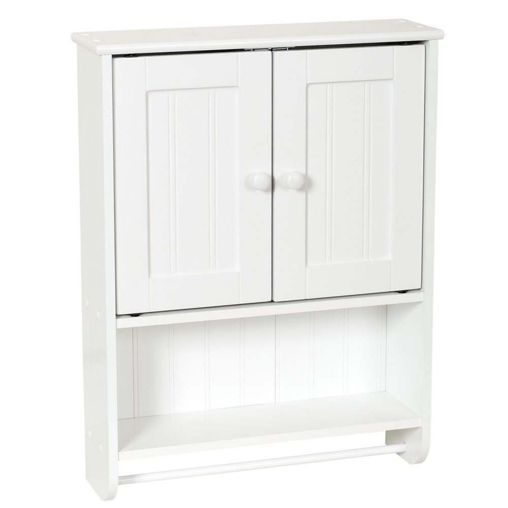 New bathroom organizer cabinet over toilet tank white for Bathroom cabinets above toilet