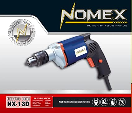 Nomex-NX13D-2-Drill-Machine-13Mm-40Pc-Screwdriver-Tool-Kit-3Hss-Bit