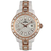 Toy Watch Gem White & Rose Gold Unisex watch #GE02WH