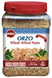 Baron's Kosher Orzo Whole Wheat Pasta 21.16-ounce Jar (Pack of 2)