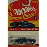 Hot Wheels Classics Series 2 #20 of 30 Shelby Cobra 427 S/C BLUE 1:64 Scale