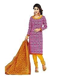 Aarvi Women's Cotton Unstiched Dress Material Multicolor -CV00053