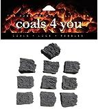 20 GAS FIRE REPLACEMENT CERAMIC MEDIUM COALS IN BRANDED COALS 4 YOU...