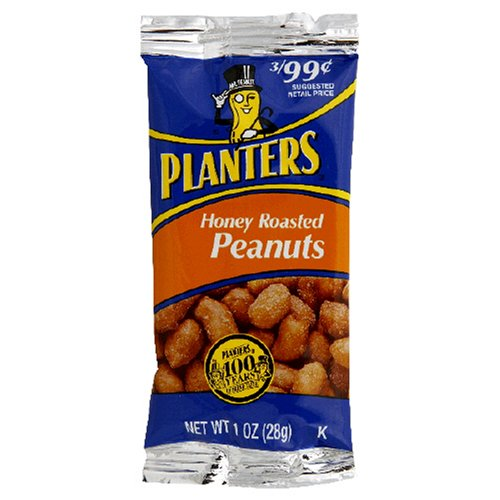 Buy Planters Honey Roasted Peanuts, 1-Ounce Packages (Pack of 72) (Planters, Health & Personal Care, Products, Food & Snacks, Baking Supplies, Nuts & Seeds)