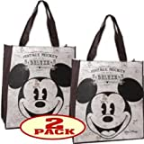 Vintage Style Mickey Mouse Face Non-Woven Tote Bag (Set of 2)