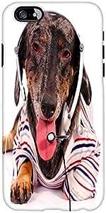 Snoogg Telemarketing Dog Giving Customer Service Designer Protective Back Cas...